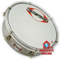 Tamborim profissional alumínio frisado Contemporânea 429C - caixeta 6 pol. 6 afinações -