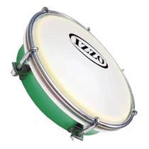 Tamborim VERDE IZZO 6 polegadas ABS com Pele Leitosa - 3691 -