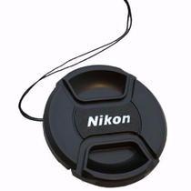Tampa Frontal Com Logo Nikon Para Lentes 72mm - Phottix