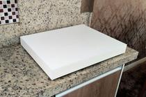 Tampa para cooktop 4 bocas - Branca - 63x50cm - Pereira móveis