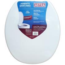 Tampa Para Vaso Sanitário Almofada Oval Contra Fungos e Bactérias Slim Branco - Astra