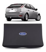 Tampão Bagagito Porta-malas Ford Focus Hatch 4 Portas 2009 até 2013 MDF Com Símbolo - Boombastic