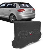 Tampão Porta Malas Audi A3 1997 a 2009 Carpete Grafite Furos 6x9 Bagagito Fácil Instalação - R-Acoustic