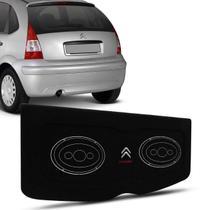Tampão Porta Malas Citroen C3 2002 a 2012 4 Portas Carpete Preto Furos 6x9 Bagagito Fácil Instalação - R-acoustic
