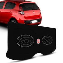 Tampão Porta Malas Palio G5 2013 a 2017 4 Portas Carpete Preto Furos 6x9 Bagagito Fácil Instalação - R-acoustic