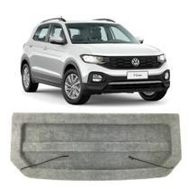 Tampão Porta Malas Volkswagen T-Cross 2019 a 2020 Regency Bagagito Plástico Injetado Carpete Cinza -