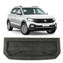 Tampão Porta Malas Volkswagen T-Cross 2019 a 2020 Regency Bagagito Plástico Injetado Carpete Grafite -