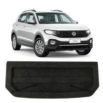 Tampão Porta Malas Volkswagen T-Cross 2019 a 2020 Regency Bagagito Plástico Injetado Carpete Preto -