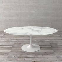Tampo de Mármore para Mesa de Jantar Nova Saarinen Branco 100x180cm - Etna