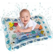 Tapete Água Inflável Esteira Almofada Infantil Criança Bebê Azul Claro - Color Baby