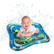 Tapete Água Inflável Esteira Almofada Infantil Criança Bebê Azul - Color Baby