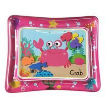 Tapete Água Inflável Esteira Almofada Infantil Criança Bebê (caranguejo) Rosa - Color Baby