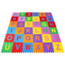 Tapete Alfanumérico Pequeno em EVA com 36 Peças Coloridas 366 - Carlu -