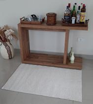 Tapete algodão par Sala/Quarto   - 0,80 x 1,20 - Cor Cru  pelo baixo - Ls Têxtil