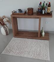 Tapete algodão par Sala/Quarto   - 0,80 x 1,20 - Cor Cru  pelo médio - Ls Têxtil