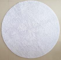Tapete algodão par Sala/Quarto - Redondo - 1,50 x 1,50 - Cor Branco - Ls Textil