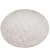 Tapete algodão par Sala/Quarto - Redondo - 1,50 x 1,50 - Cor Cru - Ls Têxtil