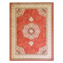 Tapete Aubusson Retangular Veludo 60x120 cm Vermelho - Rayza