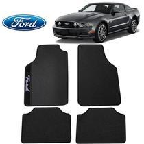 Tapete Automotivo Ford Mustang Universal Preto Bordado - Gt
