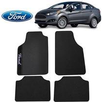 Tapete Automotivo Ford New Fiesta Sedan Universal Preto Bord - Gt
