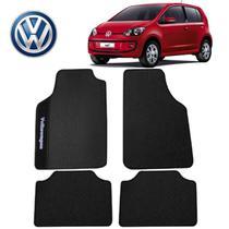 Tapete Automotivo Volkswagen Up Universal Preto Bordado - Gt