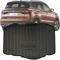 Tapete Bandeja Porta Malas Com Borda Elevada Volkswagen T-Cross Tcross 200 Tsi / PCD / Sense 2018 19 20 - Carbag