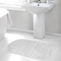 Tapete Banheiro Box Banheira Banho Chuveiro Ventosas Antiderrapante 68 x 38cm - Perfitec
