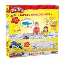 Tapete Bilíngue com Apagador para Colorir - Play-Doh - Fun - Barao Atacadista