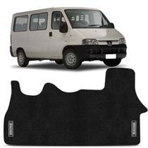 Tapete Borracha PVC Van Peugeot Boxer 1998 a 2018 Preto com Logo Base Antiderrapante Impermeável - Requinte tapetes