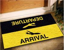 Tapete Capacho Arrival/Departure 60x40 - PRETO - Megatap