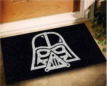Tapete Capacho Darth Vader 60x40 - Preto - Megatap