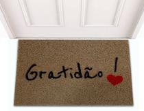 Tapete Capacho de Porta Apartamento Decorativo Divertido Gratidão - Jc Tapetes