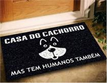 Tapete Capacho Divertido Casa do Cachorro 60x40 Dog Pet Lar - Megatap