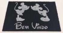 Tapete Capacho Limpe Sim 60x40 Mickey Minnie Bem Vindo Decorativo Casa Lar - Kapazi