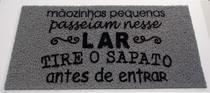 Tapete Capacho Limpe Sim Personalizado Decorativo 60x40 Cm Mãozinhas Pequenas Passeiam Nesse Lar - Kapazi