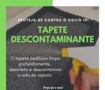 Tapete Capacho Sanitizante Pedilúvio 40x60cm Grafite - Kapazi