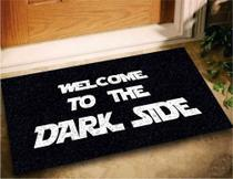 Tapete Capacho Welcome Dark Side 60x40 - Preto - Megatap