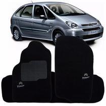 Tapete Carpete Citroen Xsara 1999 Picasso Preto Com Logo Bordado - Ecotap