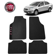 Tapete Carro Fiat Grand Siena Universal Preto Bordado - Gt