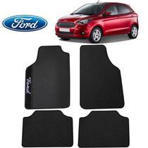 Tapete Carro Ford Ka Hatch Universal Preto Bordado - Gt