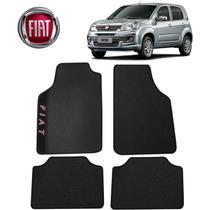 Tapete Carro Universal Fiat Uno Preto Bordado - Gt