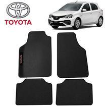 Tapete Carro Universal Toyota Etios Hatch Preto Bordado - Gt