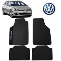Tapete Carro VW Golf Variant Universal Preto Bordado - Gt