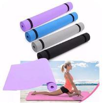 Tapete Colchonete de Ginástica Yoga Pilates - Tomate
