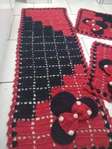 Tapete Crochê Kit Passadeira Minnie Criativa - Criativa Utilidades