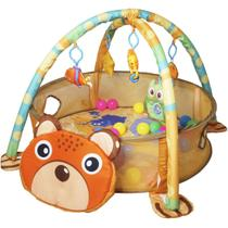 Tapete de Atividades Bebe Infantil 3x1 Piscina Bolinhas 4 Brinquedos Interativo Importway BWTI-3X1 -