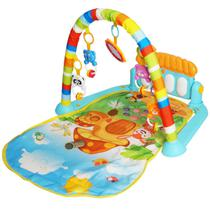 Tapete de Atividades Bebe Infantil Musical Mobile Piano 5 Brinquedos Interativo Importway BWTIP-001 -