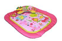 Tapete De Atividades Com Brinquedo Almofada Rosa Dican - 2258 -