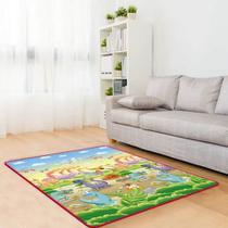 Tapete de Atividades EPE Dupla Face Comtac Kids - Reino dos Dinossauros e Ruas da Cidade 1,50 x 1,80 -