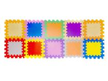 Tapete de Atividades EVA Mingone - Fofinho Liso 10 Peças 30x30cm cada